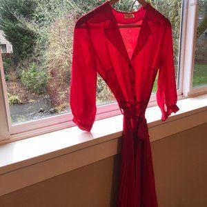Leona Edmiston Sheer Raspberry Red Frock